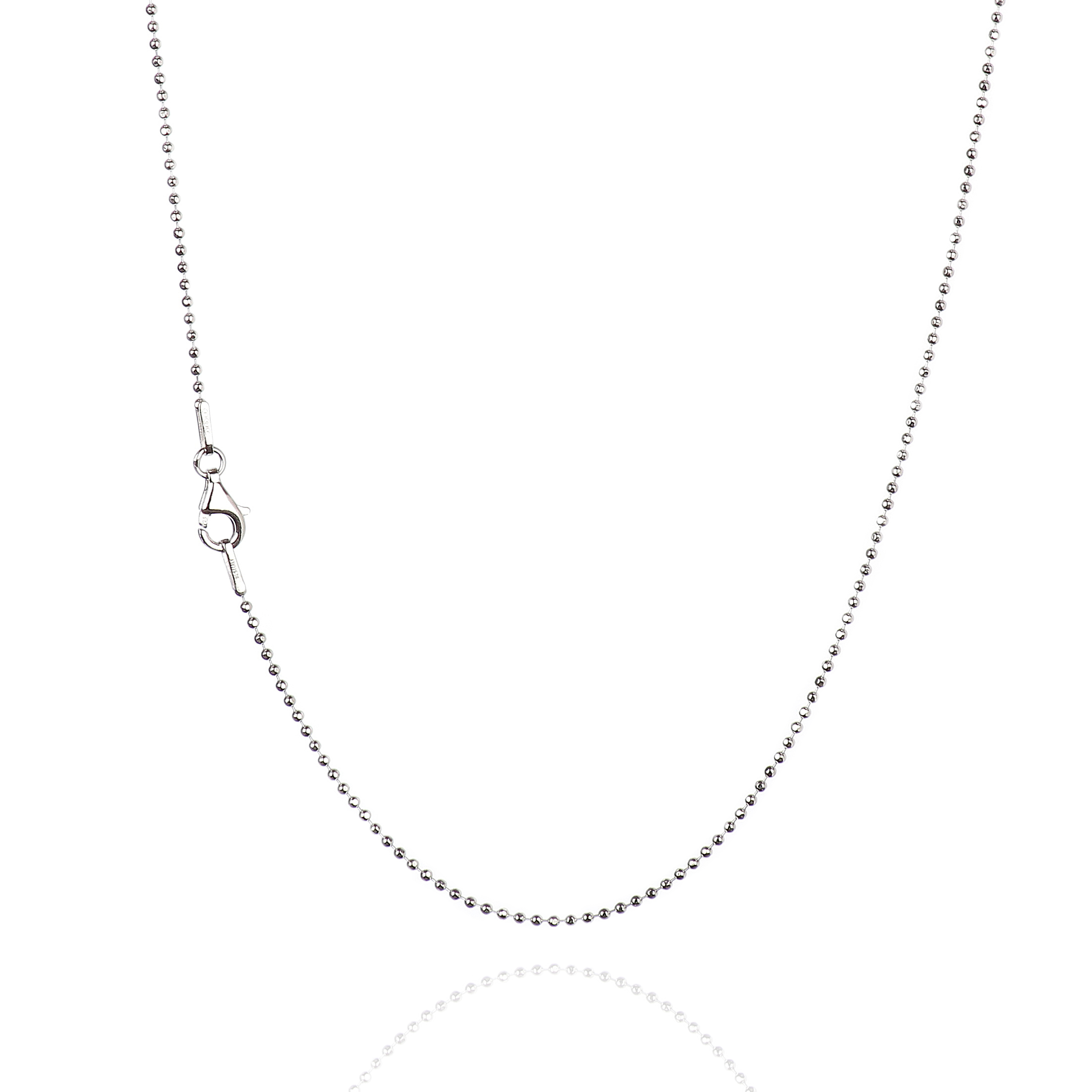 Chains .925 Sterling Silver 1.00MM Diamond-Cut Cable Link Necklace