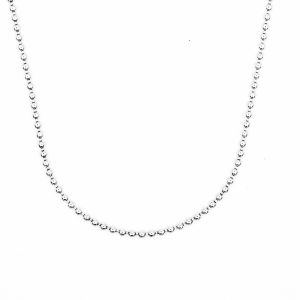 smooth bead chain necklace