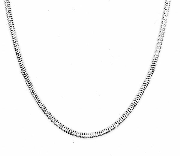 round smooth snake chain necklace