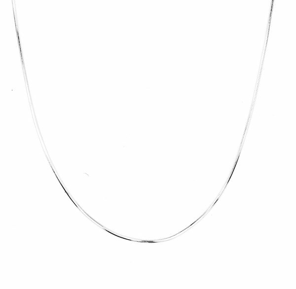 snake chain d-cut necklace